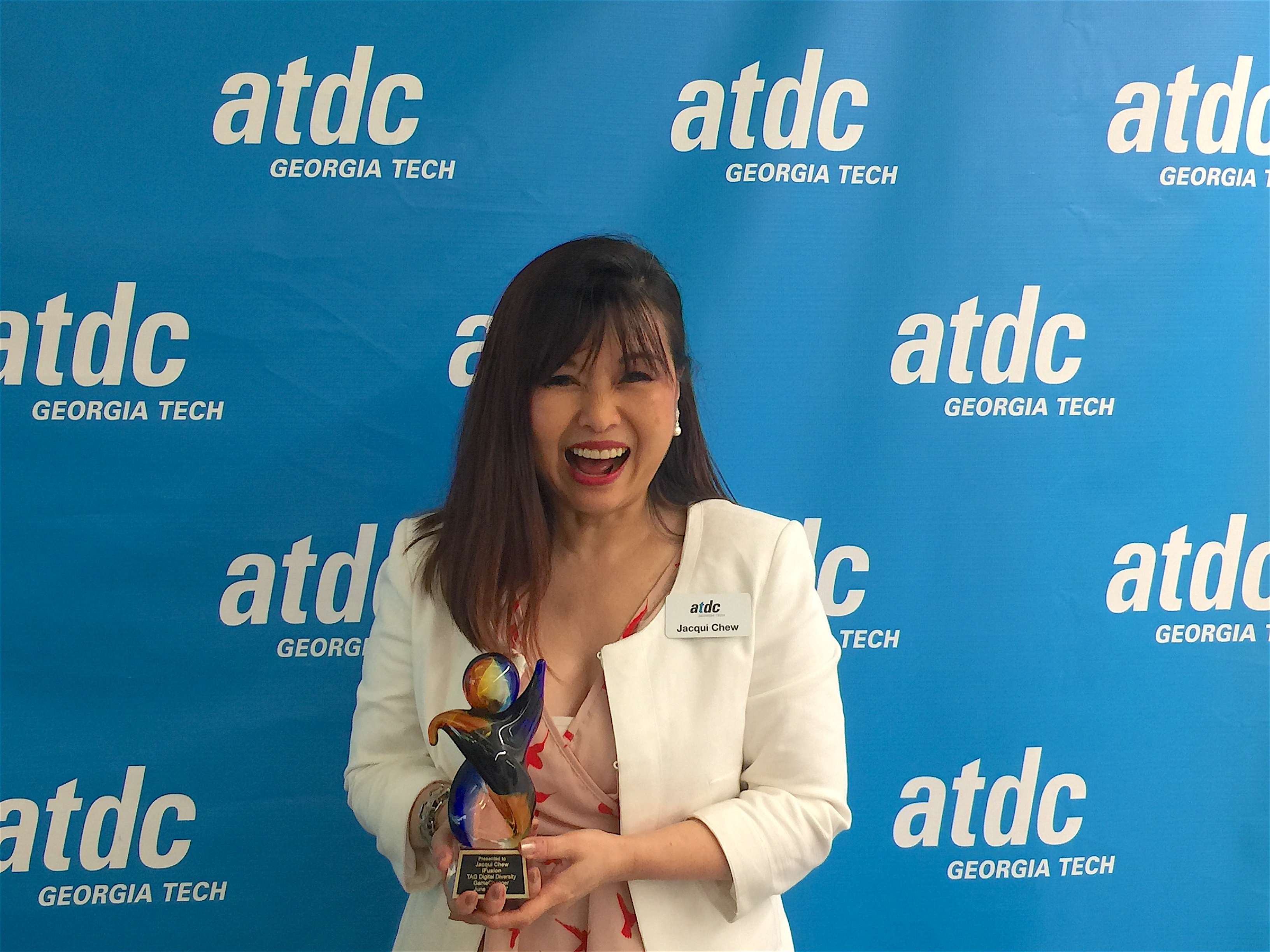 Jacqui Chew holds TAG Diversity Game Changer Award