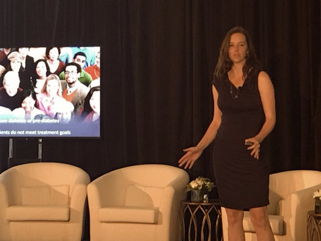 Dr. Lucie Ide, CEO and founder of Rimidi Diabetes, makes a presentation at Guidewell.