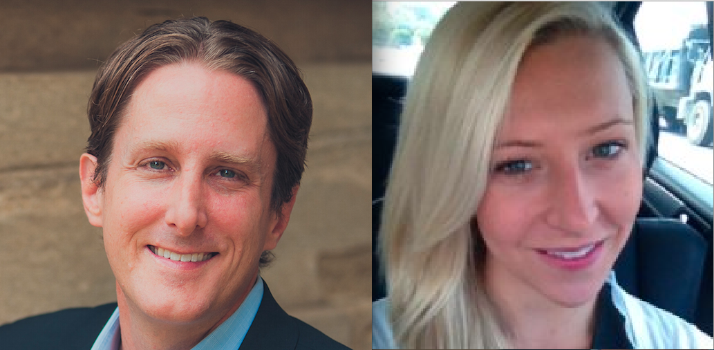 Groundfloor co-founder and CEO Brian Dally, left and Bethany Bray, right, founder of NeuroCruitment, are now in ATDC's Select Company program.