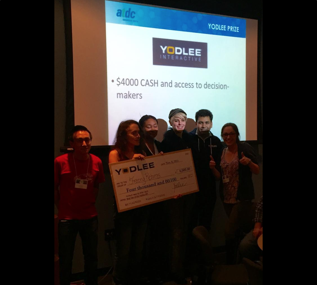 Freeing Returns was a big winner of the hackathon, taking two team prizes and one individual prize.