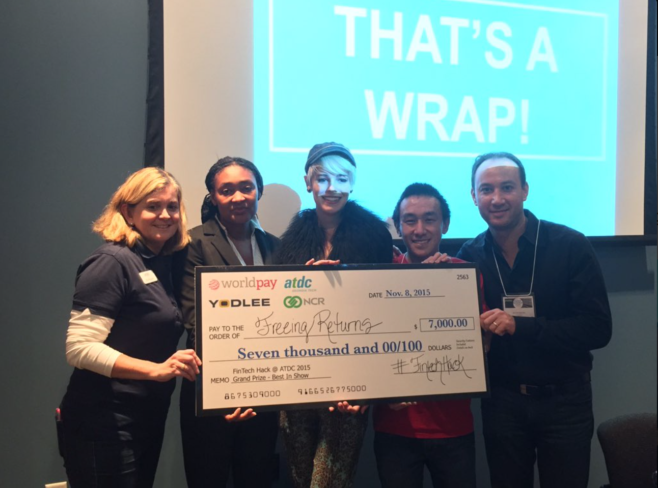Freeing Returns was the Grand Prize winning team of the FinTech Hack @ATDC.